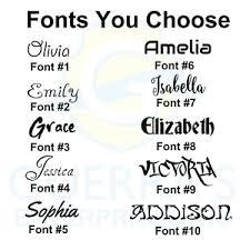 Personalized Custom Vinyl Lettering Name Decals Stickers Window Text Name 8 Inch Ebay