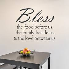 Wallums Wall Decor Bless The Food Wall Decal Wayfair