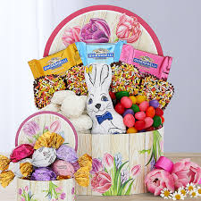 easter chocolate sweets gift basket