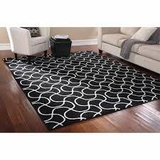 indoor black white area rug mat carpet