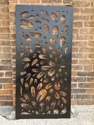 Flowerburst2 Metal Privacy Screen Decorative Panel Outdoor Etsy