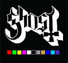 Ghost Logo Vinyl Decal Die Cut Sticker Ghost B C Bc Rock Band Metal Ebay