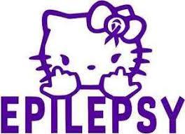 Epilepsy Hello Kitty Awareness Vinyl Decal Window Sticker For Epilepsy Support Ebay