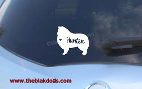 Collie Rough And Smooth Silhouette Vinyl Sticker Car Decal Personalized Blakdogs Vinyl Designs
