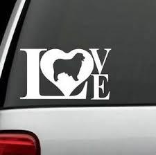 L1022 Aussie Australian Shepherd Love Dog Decal Sticker For Car Truck Suv Laptop Ebay