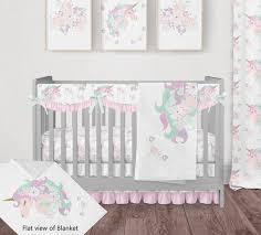 unicorn bedding set for baby girl