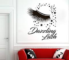 Amazon Com Ceciliapater Eyelash Decals Wall Decal Window Sticker Beauty Salon Woman Face Eyelashes Lashes Eyebrows Brows 2958 Home Improvement