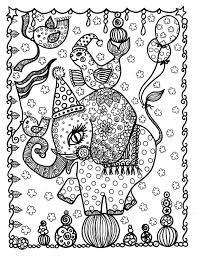 Circus Olifant Kleurplaat Pagina Instant Download Digi Stempel Etsy