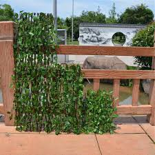Artificial Wood Fence Garden Plant Uv Protected Outdoor Use Garden Decoration Willow Fence Backyard Decor Greenery Walls Fencing Trellis Gates Aliexpress