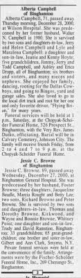 Obituary for Alberta Campbell (Aged 89) - Newspapers.com