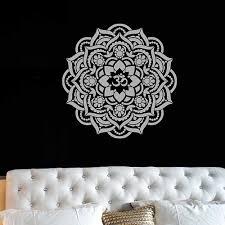 Mandala Stencil Large Stencil Om Mandala Mandala Stencils
