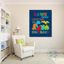 Dinosaur Room Decor Dinosaur Nursery Wall Art Rawr Means I Love You Di Sweet Blooms Decor
