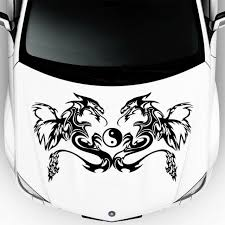 Car Hood Auto Decal Dragon Animal Yin Yang Symbol Vinyl Sticker Decor Da127 For Sale Online Ebay