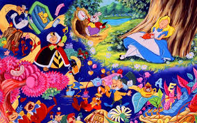 trippy alice in wonderland wallpaper on