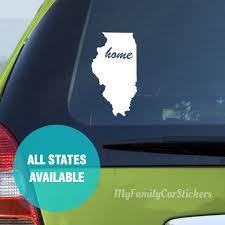 Custom State Decal Vinyl Custom State Car Sticker Custom Etsy Custom State Stickers Custom Custom