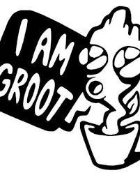 Baby Groot In A Pot Vinyl Decal Guardians Of The Galaxy Sticker I Am Groot Decal Shefinds