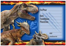 Jurassic World Mantel 2 Unidades Y Invitaciones 16 Ct Paquete