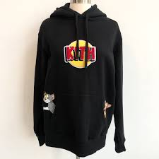 Kith Black Logo Hoodie Tom and Jerry – Vice