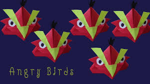 How to Make a Paper Angry Bird - Origami Bookmark - YouTube