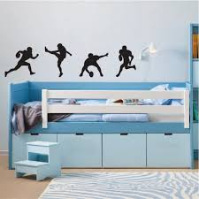 Football Player Silhouette Vinyl Wall Decals Set Of 4 Etsy