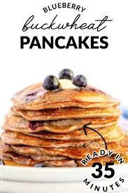 blueberry buckwheat pancakes food