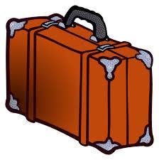 Lederen koffer | Vectorafbeelding voor openbaar gebruik