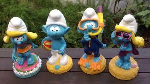 smurf garden statues series 1