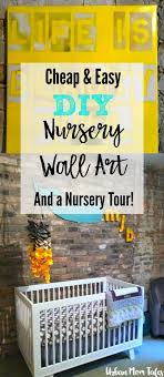 Gray And Yellow Nursery With Easy Diy Wall Art Urban Mom Tales