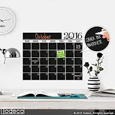 Amazon Com Modern 2019 Chalkboard Wall Decal Calendar A Todeco Product Office Products