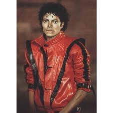 red thriller leather jacket