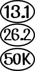 Vinyl Car Decal Sticker Marathon Running Half Distance 26 2 13 1 50k 10k Ultra Ebay