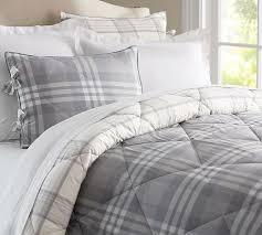 traftin plaid comforter shams