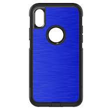 Distinctink Custom Skin Decal Compatible With Otterbox Commuter For Iphone X Xs 5 8 Screen Blue Stainless Steel Image Print Printed Image Of Stainless Steel Walmart Com Walmart Com