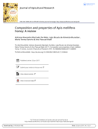 properties of apis mellifera honey