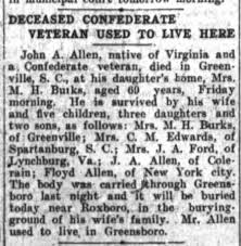John A Allen father of Addie Edwards Died - Newspapers.com