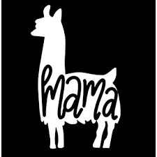 Amazon Com Stonehouse Decals 4 25 X 5 Llama Mama With Heart Vinyl Die Cut Decal For Your Car Truck Window Laptop Or Any Smooth Surface Automotive