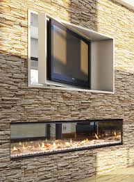 ethanol wall fireplace double sided