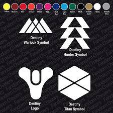 Destiny Warlock Emblem Vinyl Decal Multiple Sizes Gaming Video Games Sticker Home Garden Decor Decals Stickers Vinyl Art