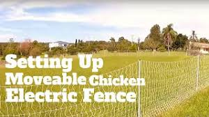 Setting Up Moveable Chicken Electric Fence Youtube