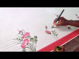 fabric colour painting