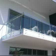 hand rail design for standoff glass railing