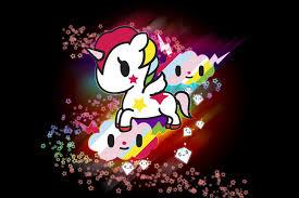 free kawaii rainbow unicorn by