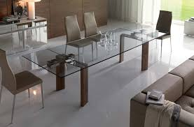 expandable glass dining table set