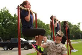 Future female Marines tackle Marine Corps lifestyle