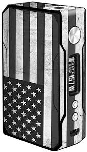 Amazon Com Skin Decal Vinyl Wrap For Voopoo Drag 157w Tc Vape Stickers Skins Cover Black White Grunge Flag Usa America