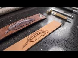 how to tool a feather bracelet with