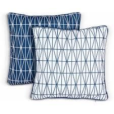 vonhaus 2 pack ter cushions blue