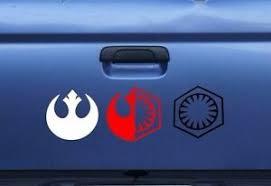 Star Wars Force Awakens Rebel Alliance First Order Vinyl Window Decal Sticker Ebay