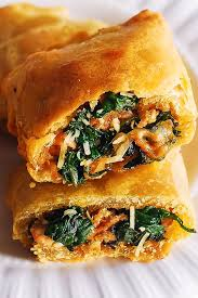 en and spinach in puff pastry