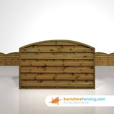 Arched Horizontal Fence Panels 4ft X 6ft Brown Berkshire Fencing